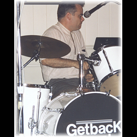 The 1998 Anniversary Party Pete on Drums