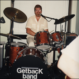 1991 Rich! They don't make 'em any better than this guy! Or funnier. A great drummer who always kept us together---or else!